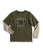 Boy�s Built To Work Graphic Layered-Sleeve T-Shirt