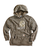 Boy�s Big Camo �C� Fleece Hooded Sweatshirt