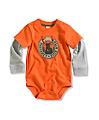 Infant/Toddler Boy�s Buck Wild Graphic Layered-Sleeve Bodyshirt