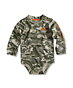 Infant/Toddler Boy�s Green Camo Logo Bodyshirt