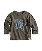 Infant/Toddler Boy�s Relax I'm Tough Long-Sleeve Graphic T-Shirt