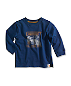 Infant/Toddler Boy�s Full Steam Ahead Graphic  Long-Sleeve T-Shir