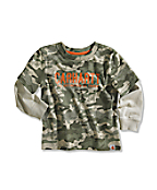 Infant/Toddler Boy�s Layered-Sleeve Camo T-Shirt
