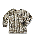 Infant/Toddler Boy's Brown Camo Logo T-Shirt