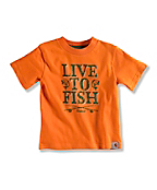 INFANT BOY'S LIVE TO FISH T-SHIRT
