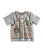 INFANT BOY'S FISHING VEST T-SHIRT