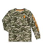 Boy's Camo Logo T-Shirt