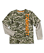 Boy's Camo Layered T-Shirt