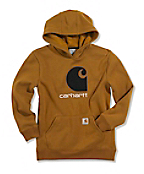 "Boy's Big ""C"" Fleece Hooded Sweatshirt"