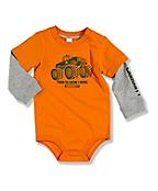 Infant Toddler Boy's Layered Sleeve Bodyshirt