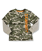 Infant Toddler Boy's Layered Camo T-Shirt