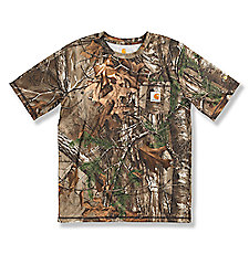 Boys' Work Camo Pocket Short-Sleeve T-Shirt