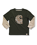 Infant/Toddler Boys' 'C' Antlers Layered T-Shirt