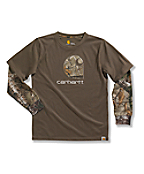 Boys' Layered Camo T-Shirt