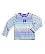 Girls Longsleeve Yarn Dyed Stripe T-Shirt