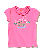 Girls Ruffle Neck Tee