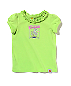 Girls Infant/Toddler Ruffle Neck Tee