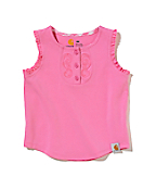 Girls Infant/Toddler Ruffle Neck Henley Tee