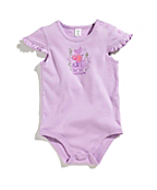 Infant Girls Farm Animal Stack Ruffle Sleeve Bodyshirt