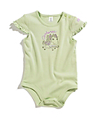 Infant Girls Pony Ruffle Sleeve Bodyshirt