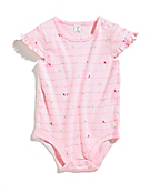 Infant Girls Birds Ruffle Sleeve Bodyshirt