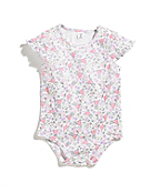 Infant Girls Floral Ruffle Sleeve Bodyshirt