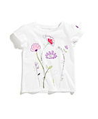 Girls Infant/Toddler Flowers Graphic Tee
