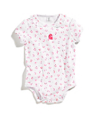 Infant Girls Tiny Ruffle Cherry Bodyshirt