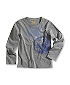 Girl's Holiday Spray Paint Graphic Long-Sleeve T-Shirt