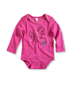 Infant/Toddler Girl?s Wild At Heart Long-Sleeve Lapped Shoulder Bodyshirt