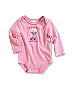 Infant/Toddler Girl�s Cute To Boot Long-Sleeve Lapped Shoulder Bodyshirt