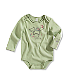 Infant/Toddler Girls' Forest Friends Long Sleeve Lapped Sholder Bodyshirt