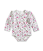 Infant/Toddler Girls' Printed Long-Sleeve Bodyshirt