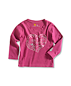 Infant/Toddler Girl�s Lasso Heart Long-Sleeve T-Shirt