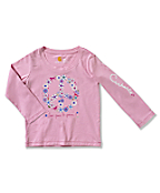 Infant/Toddler Girl�s Flower Peace Long-Sleeve T-Shirt