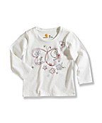 Infant/Toddler Girl�s Butterfly Long-Sleeve T-Shirt