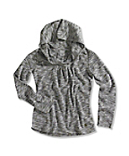 Girl�s Space-Dyed Stripe Hoodie