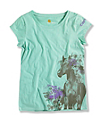 GIRL'S HORSE SCOOP T-SHIRT