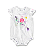 INFANT GIRL'S BARN CAT BODYSHIRT