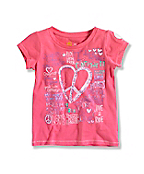 INFANT GIRL'S HEART T-SHIRT