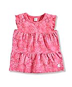 INFANT GIRL'S PRINTED TIERED TOP