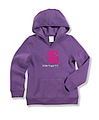 "Girls' Brushed Fleece ""C"" Hooded Sweatshirt"