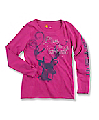 Girl's ?Live to Hunt? Long-Sleeve T-Shirt