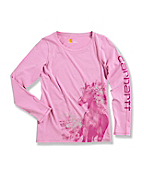 Girl's Photo Real Horse Long-Sleeve T-Shirt