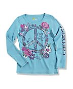 Girl's �Peace and Horses� Long-Sleeve T-Shirt