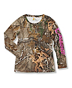 Girl's Long-Sleeve Realtree Xtra® Printed Top