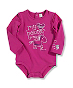 Infant Toddler Girl's �My Heart Belongs to My Horse� Long-Sleeve Bodyshirt
