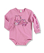 Infant Toddler Girl's ?Butterfly Flower Fill? Long-Sleeve Bodyshirt