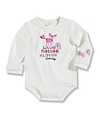 Infant/Toddler Girls' 'Little Nature Love' Long-Sleeve Bodyshirt