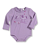 Infant Toddler Girl's ?Horse? Long-Sleeve Bodyshirt